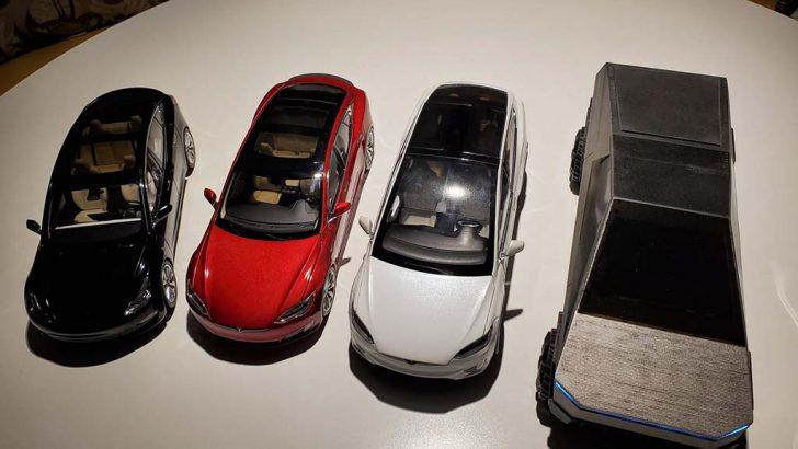 Tesla Cybertruck modelini 3d basılı olarak imal etti