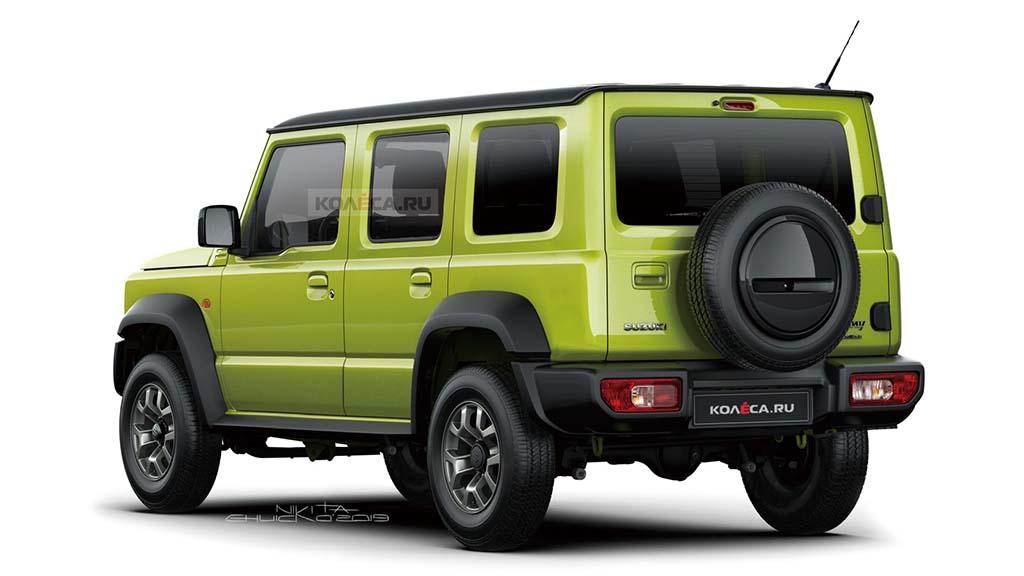 Bu görsel boş bir alt niteliğe sahip; dosya adı Five-door-Suzuki-Jimny-rendering-by-Kolesa.jpg