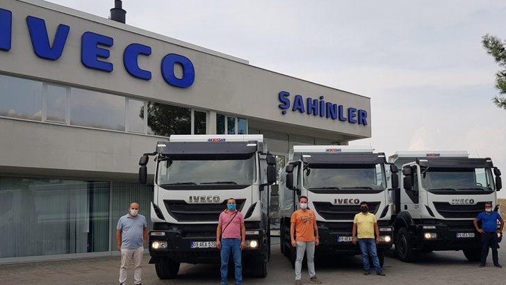 IVECO yetkili satıcısı Şahinler Otomotiv 3 adet Trakker'ı teslim etti