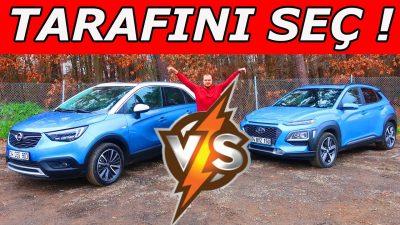 Tarafını Seç! | Hyundai Kona vs Opel Corssland X Test | Karar vermek zor mu?