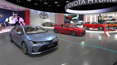 Toyota düşük emisyon rekoru kıran hibritleriyle Autoshow 2021'de
